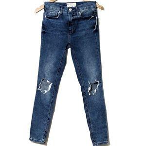 Free People Skinny Distressed at knees Jeans